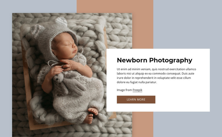Newborn photography HTML Template