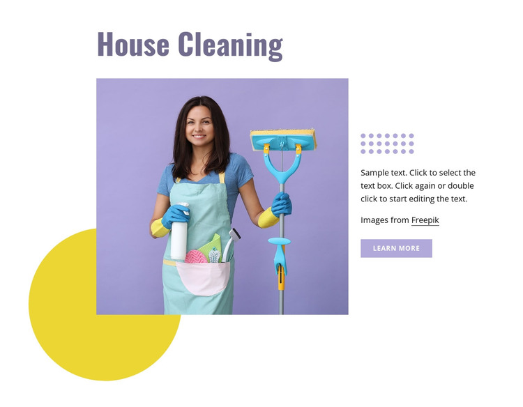 House cleaning HTML Template