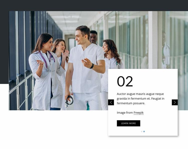 Leading primary care Website Mockup