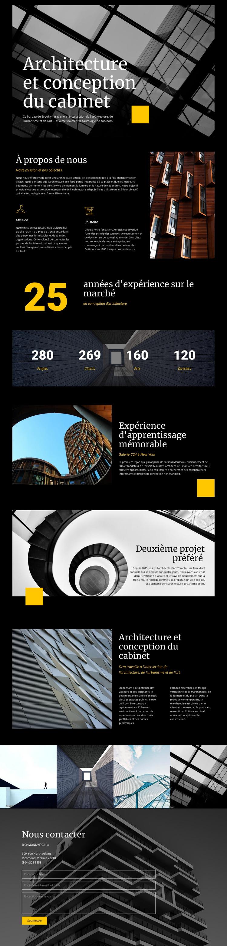 Architecture et design d'entreprise Modèle de site Web