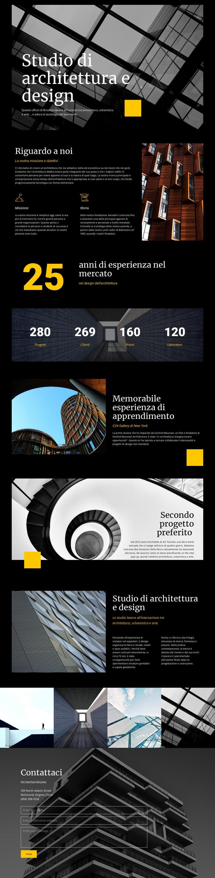 Studio di architettura e design Modello di sito Web