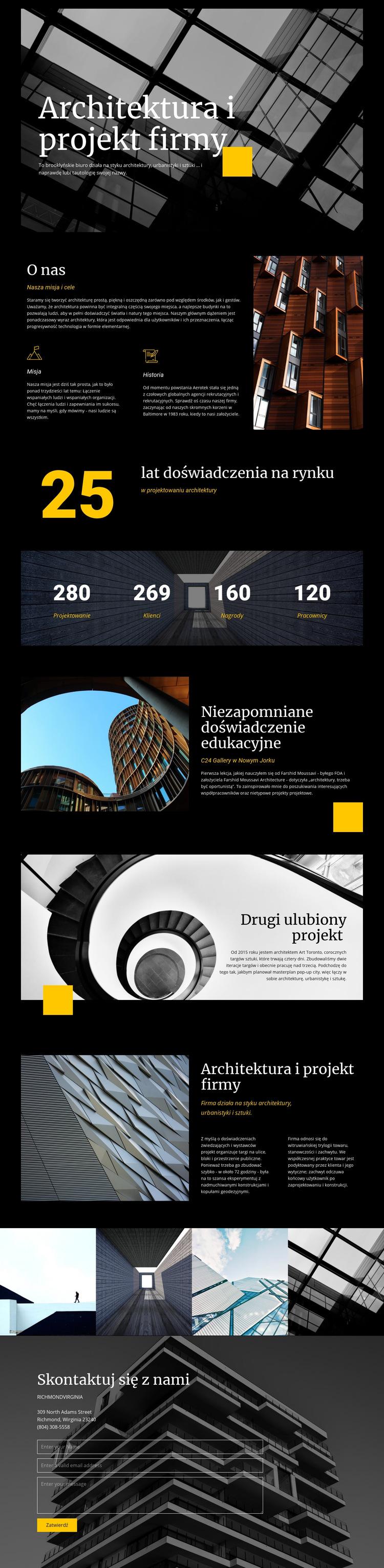 Firmowa architektura i projekt Szablon witryny sieci Web