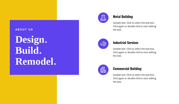Building and remodeling HTML Template