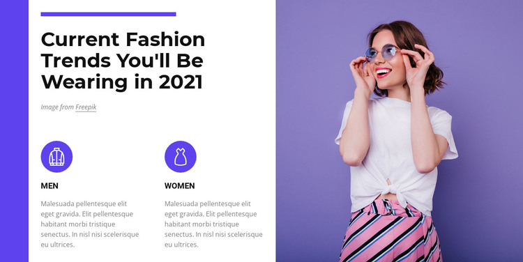 Fashion trends 2021 HTML Template