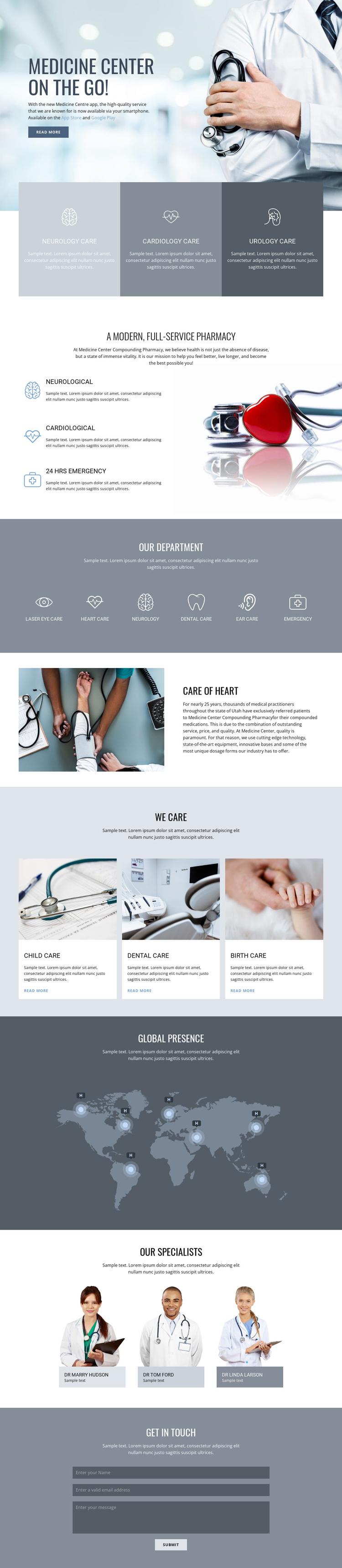 Center of quality medicine Joomla Template