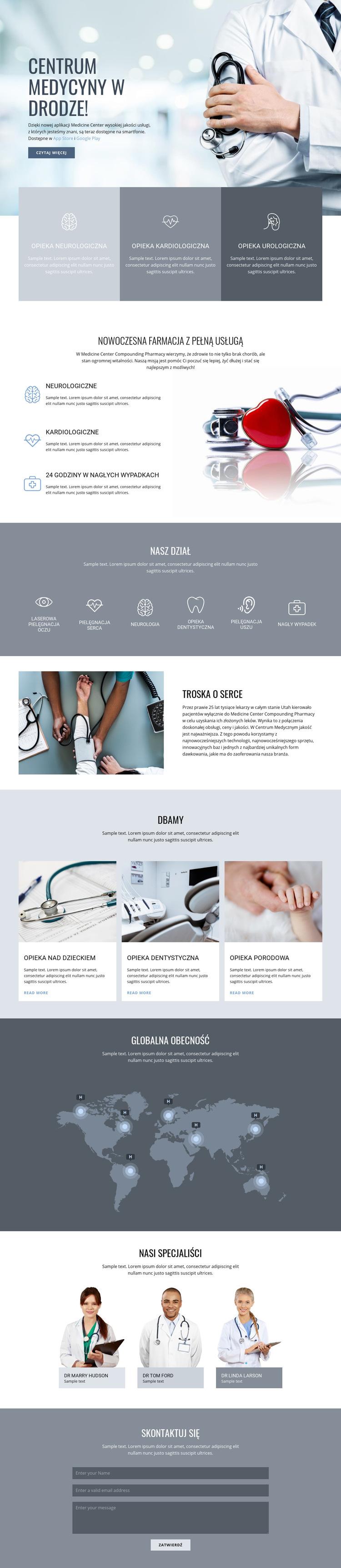 Centrum medycyny jakości Szablon witryny sieci Web