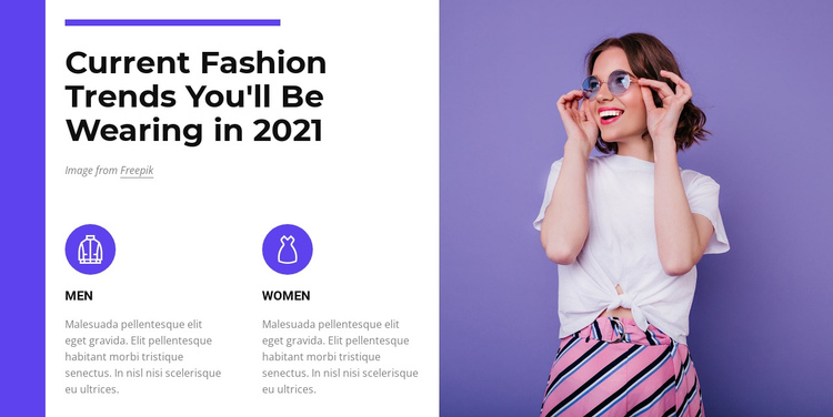 Fashion trends 2021 Website Builder Software