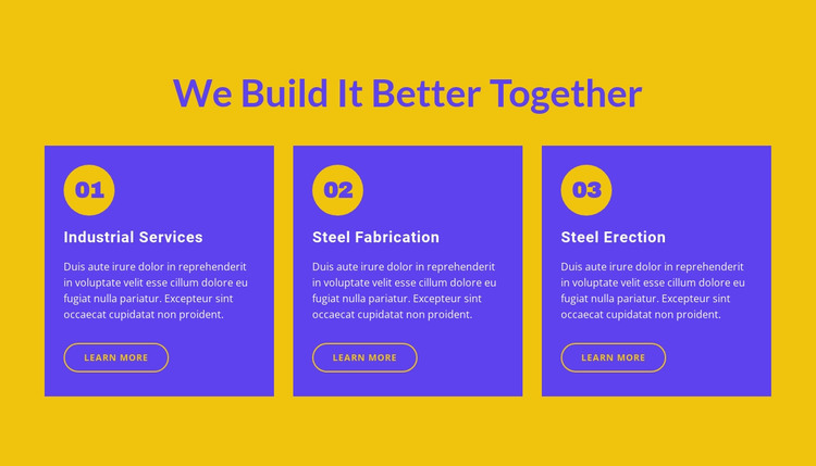 We build it better together HTML Template