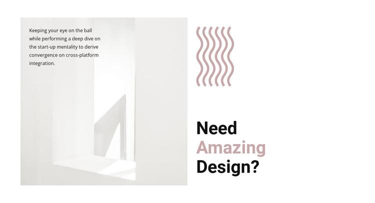 Create a new design HTML Template