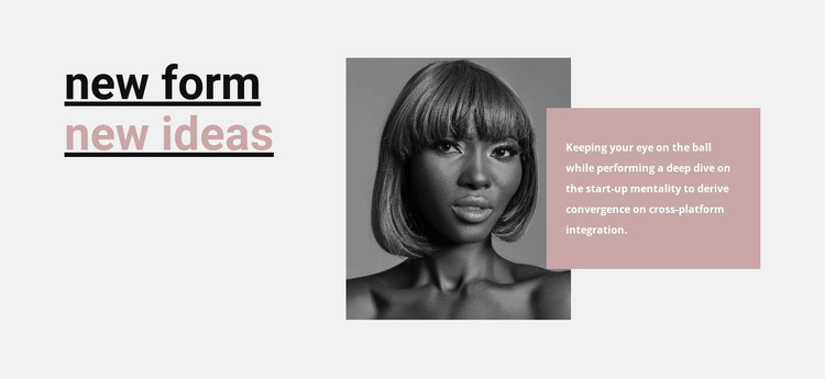 Inspiration to create something new HTML Template