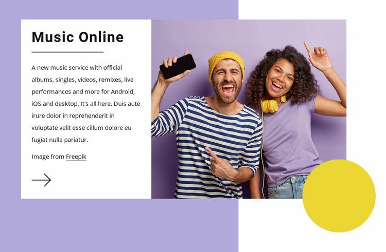 Music online Website Mockup