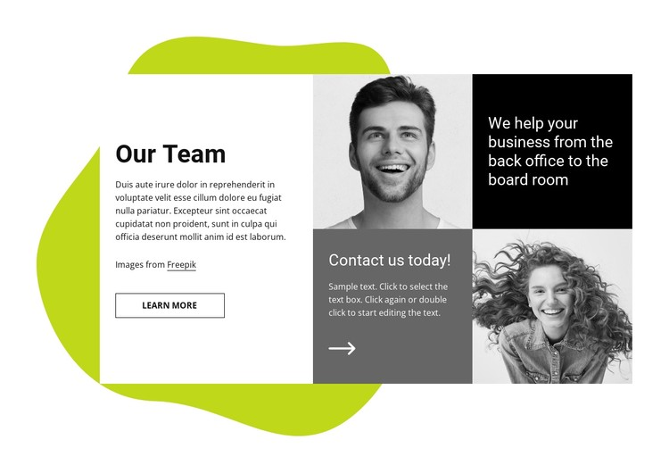 We help your business CSS Template