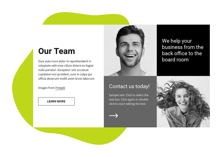We help your business HTML5 Template