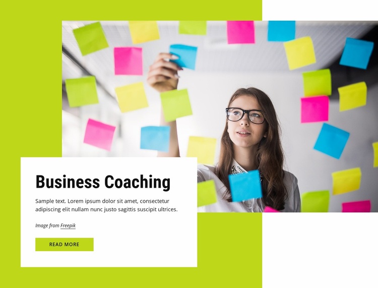 Coaching for businesses Landing Page