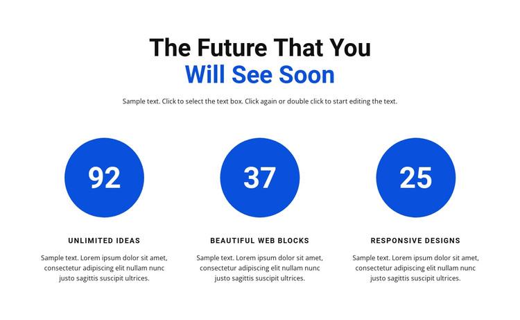 Work in infographics WordPress Theme