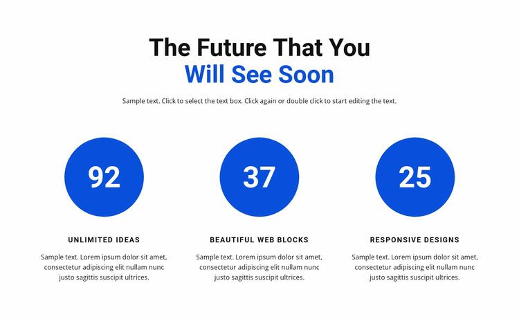 Work in infographics WordPress Website Builder