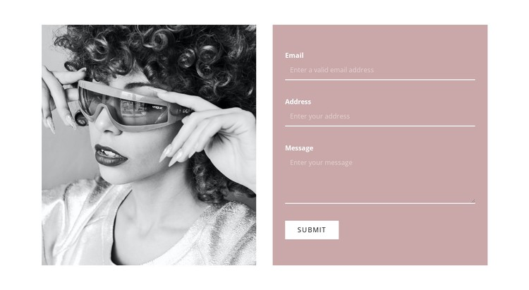 Write to our stylists CSS Template