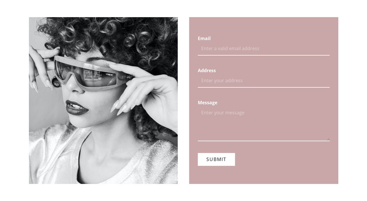 Write to our stylists One Page Template