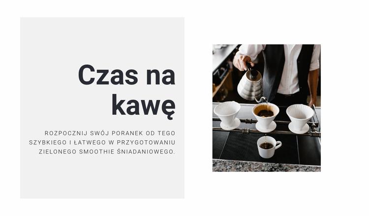 Parzenie idealnej kawy Szablon Joomla