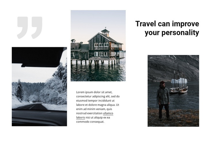 By the roads of the north Web Page Design