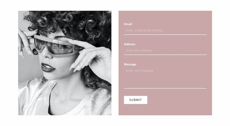 Write to our stylists Web Page Design