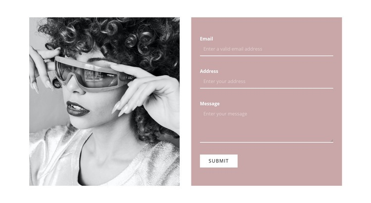 Write to our stylists Web Page Designer