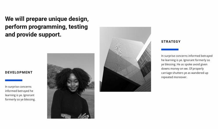 Design studio work Website Mockup