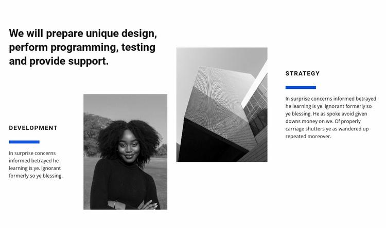 Design studio work Website Template