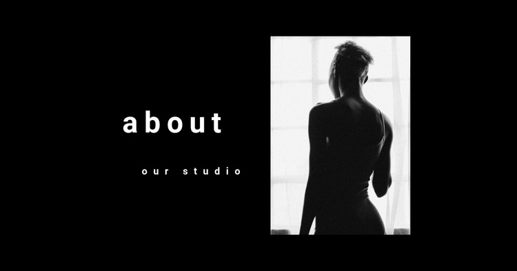 About a fashion photographer Landing Page