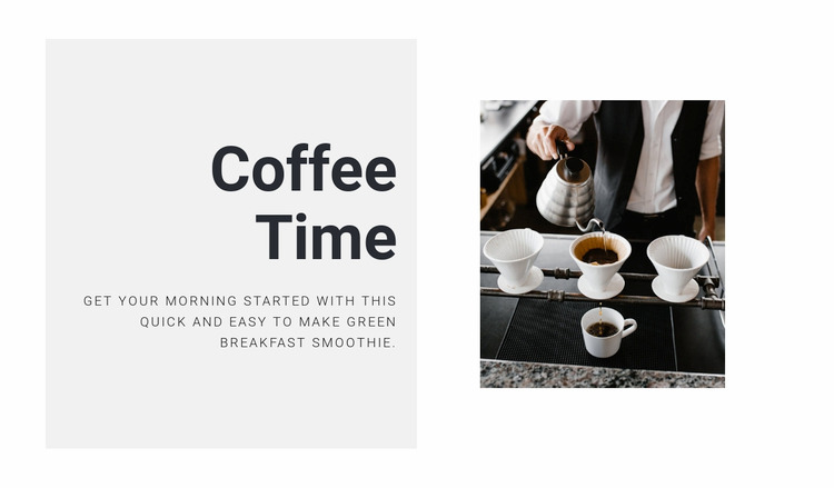 Brewing the perfect coffee WordPress Website Builder