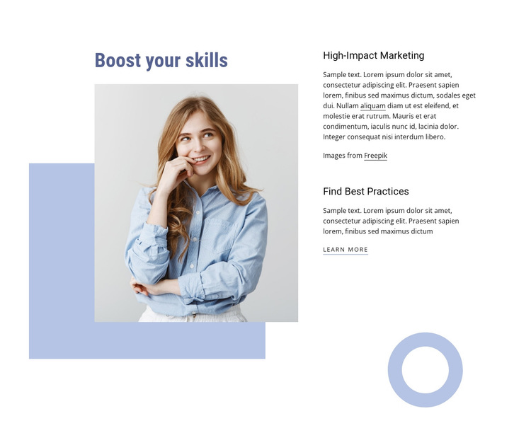 Boost your professional skills HTML5 Template