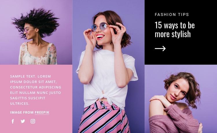 15 ways to be stylish Website Creator