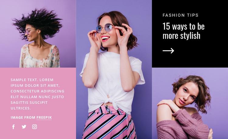 15 ways to be stylish Website Mockup