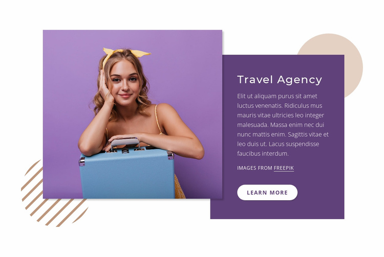 Travel experience Website Template