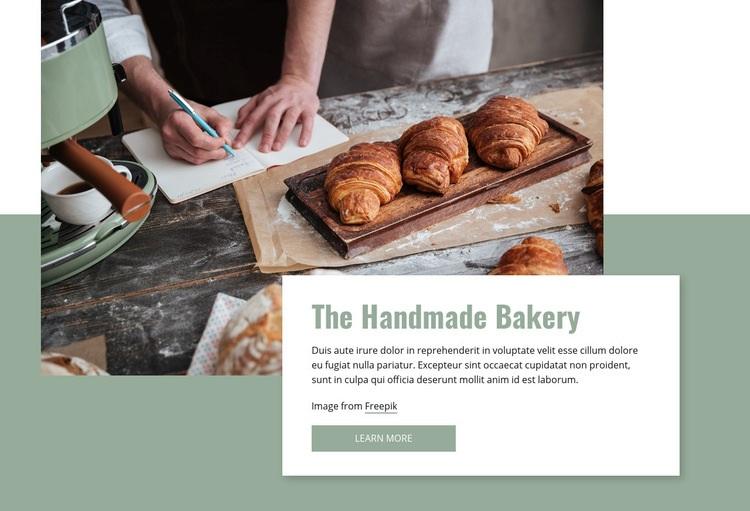 Handmade bakery Web Page Design