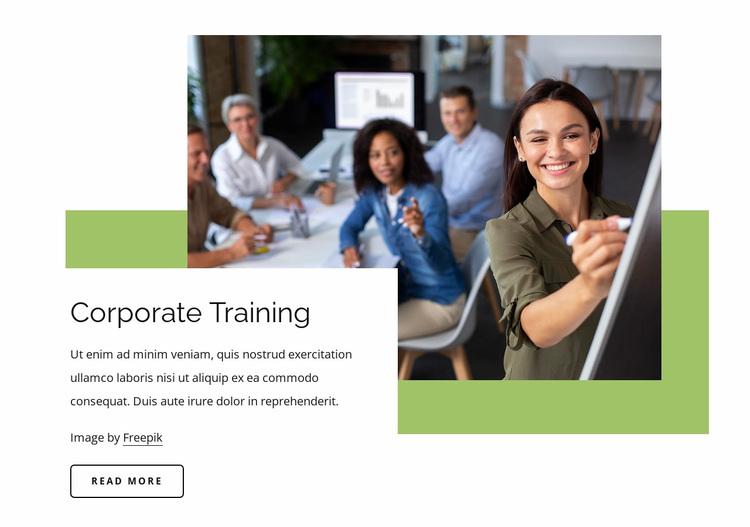 Corporate training Website Design