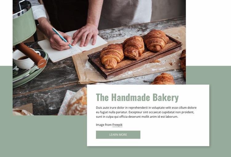Handmade bakery Website Mockup
