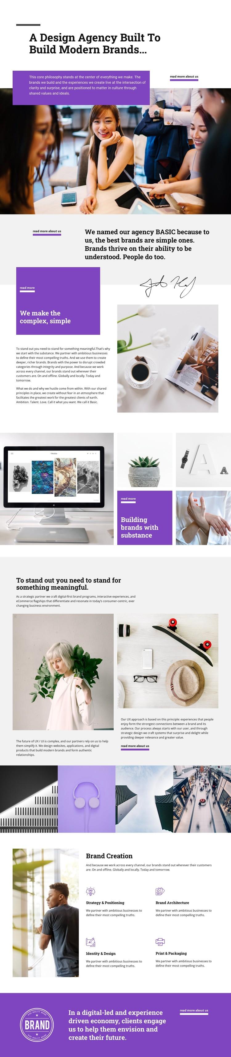 We create modernity CSS Template