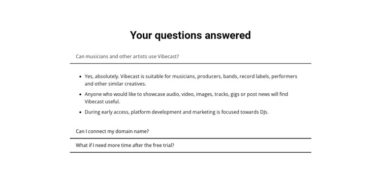 Your questions answered HTML Template