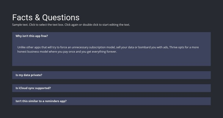 Facts and questions Web Page Design