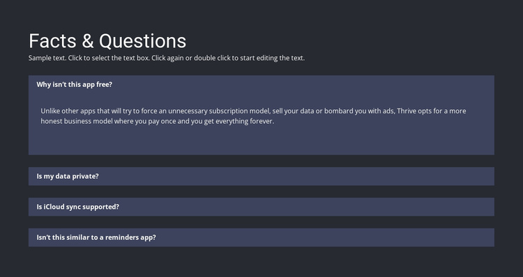 Facts and questions Website Builder Software