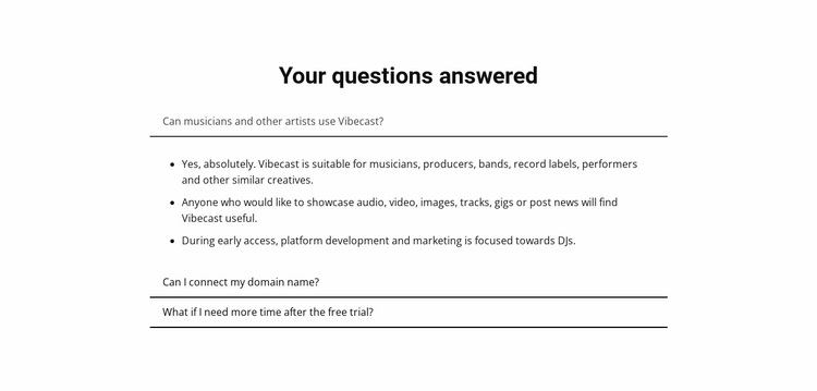 Your questions answered Website Design
