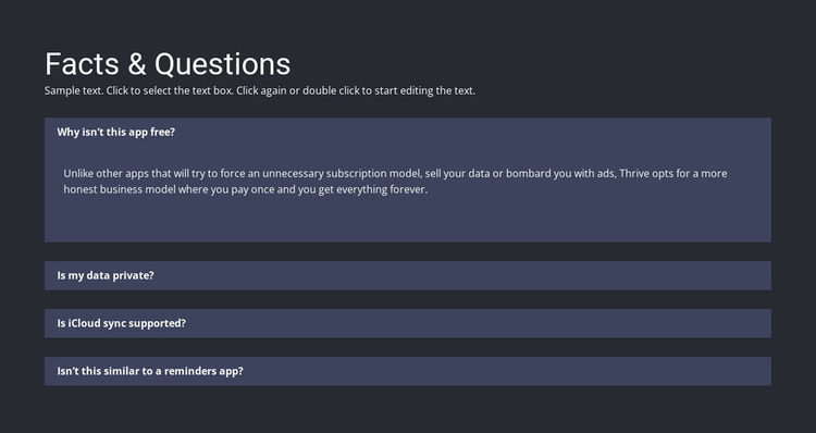 Facts and questions WordPress Website Builder