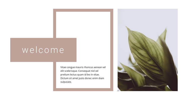 Welcome to the garden center One Page Template