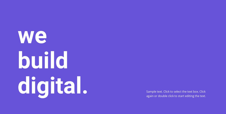 We build digital Template