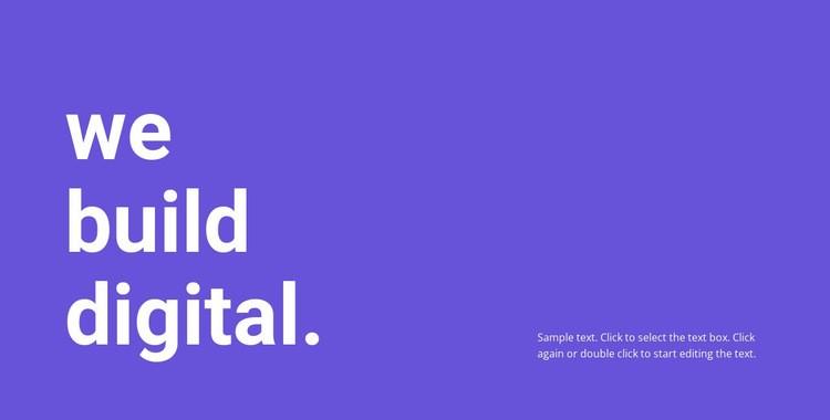 We build digital Web Page Design