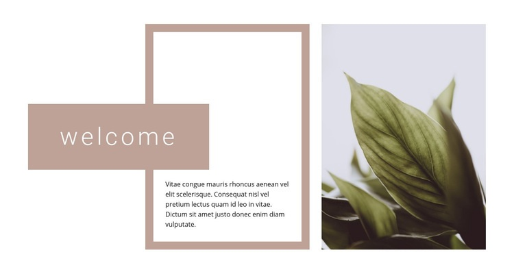Welcome to the garden center Web Page Design