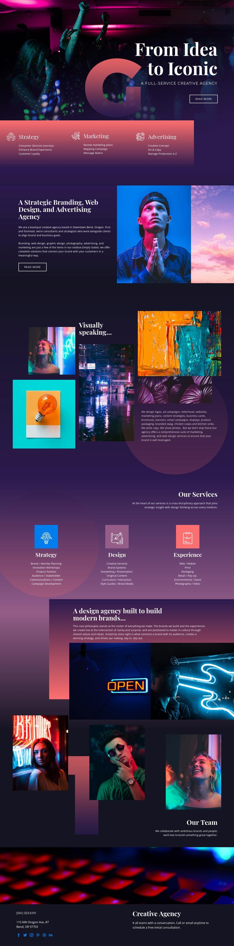 Iconic ideas of art Website Builder