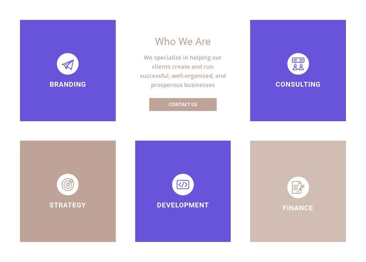 Directions of our company CSS Template
