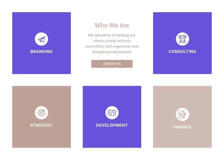Directions of our company HTML Template